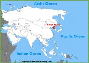 North Korea On World Map by North Korea Map World
