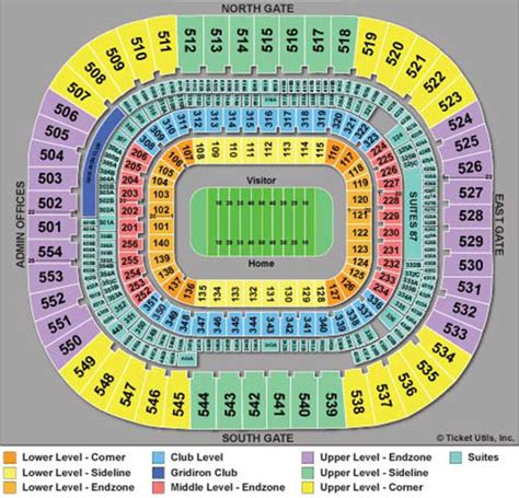 carolina panthers seating chart bank of america stadium