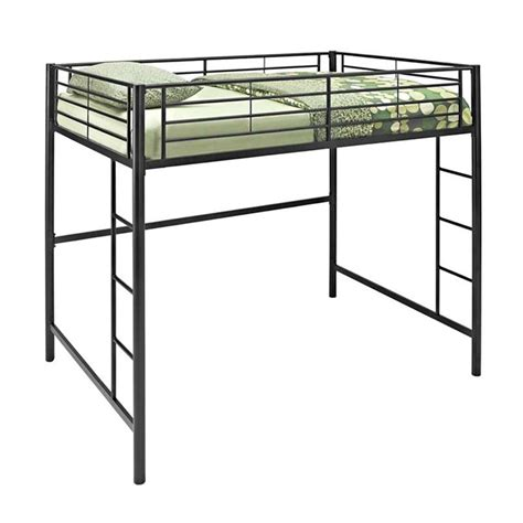 full size loft bed walker edison steel full size loft bed black bdolbl