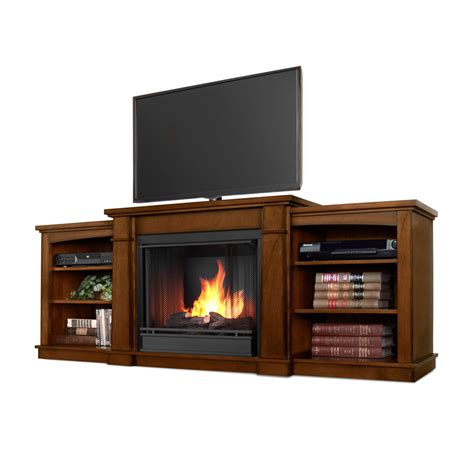 74 7 quot hawthorne burnished oak entertainment center gel