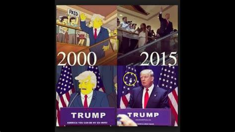 donald trump simpsons new simpsons predict trump in 2000 debunked youtube