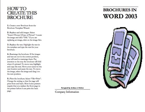 how to create a professional brochure and flyers using word 2016