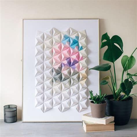 origami home decor sonobe unit origami wall art by coco sato http cocosato