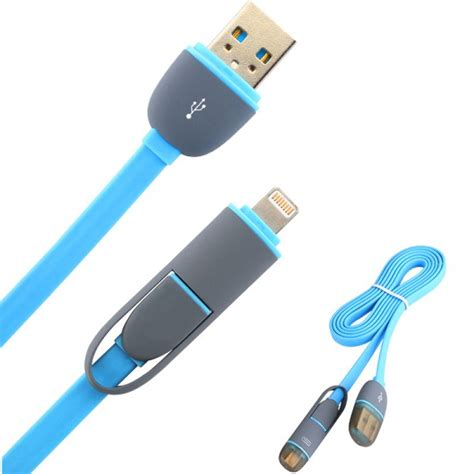 2 In 1 Duo Magic Cable Lightning And Micro Usb Cable Fo Berkualitas 1 2 in 1 duo magic cable lightning and micro usb cable for android ios split back model