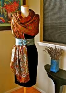 Style Guide The Belt Drape by Violette S Belted Half Dress Drape A New Scarf