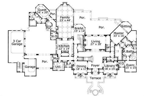 fancy house floor plans luxury house plans french home design ohp 981421 19719