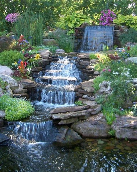 25 best ideas about outdoor waterfalls on