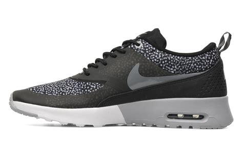 Nike Air Thea Black List White nike wmns nike air max thea print trainers in black at