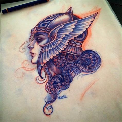 ancient viking tattoos valkyrie for this week by lynnakura square pics