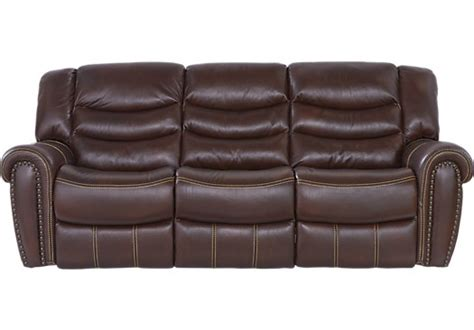 sky ridge mahogany leather reclining sofa reviews reclining sofas manual power recliner couches