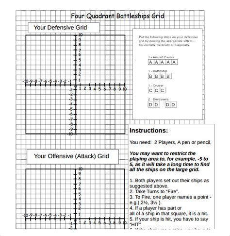 Battleship Game Sle 8 Documents In Word Pdf Excel Ppt Battleship Template