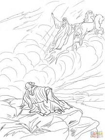 Elijah Taken Up To Heaven In A Chariot Of Fire Coloring Online sketch template