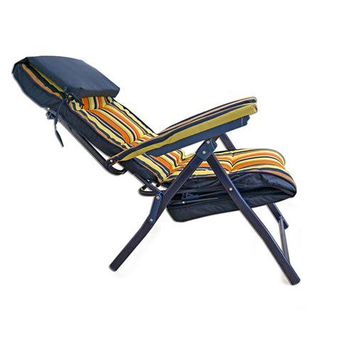 sedia sdraio imbottita sedia a sdraio imbottita con cuscino e poggiatesta