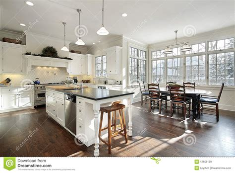 kitchen with eating area and island stock photography kitchen with eating area stock image image of house