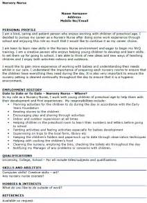Nursery Worker Cover Letter by Nursery Cv Exle Icover Org Uk
