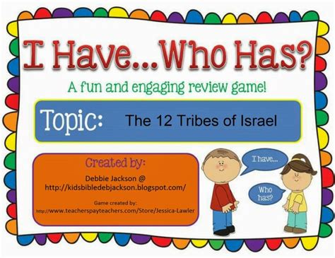 printable board games for sunday school i have who has the 12 tribes game bulletin board