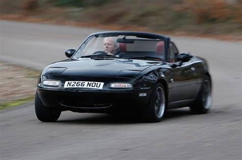 driving a v6 powered mazda mx 5 rocketeer autocar