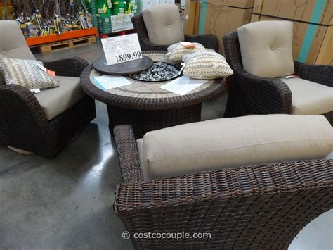 Patio Furniture Sets Costco Agio International 5 Fairview Firechat Set Costco New House Costco And House