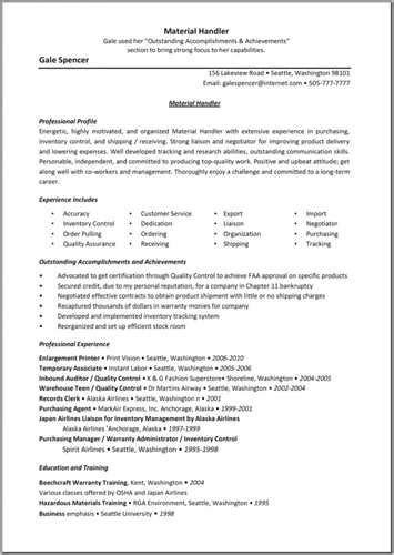 Weapons Handler Sle Resume by Worker Resume Sle Cafeteria Worker Objective Food Service Resume Cv Materials Handler Resume