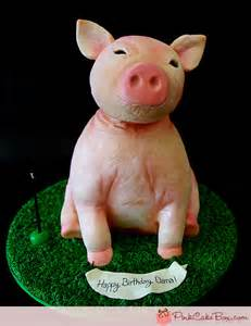 sculpted pig cake 187 birthday cakes
