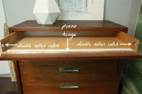 desk keyboard tray hinges add piano hinge to the top of a chest of drawers