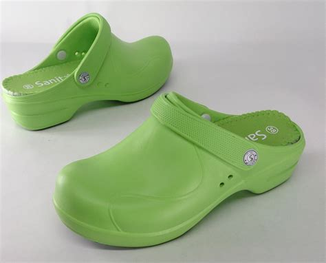 lime green shoes for sanita sz 7 5 stride back clogs lime green shoes new