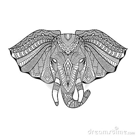 unique elephant coloring pages drawing unique ethnic elephant head for print pattern