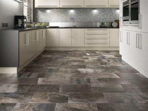 rectangle porcelain floor contemporary kitchen