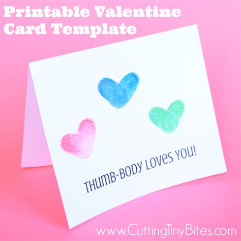 daycare valentines day card templates printable card template thumb you
