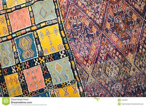 teppiche marokko handgemachter teppich in marokko stockbild bild 7533381