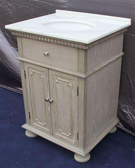 Holbrook Single 26 Inch Transitional Bathroom Vanity Whitewash