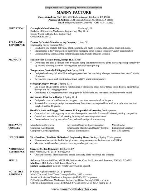 Format For Resumes For by 10 Fresher Resume Templates Pdf