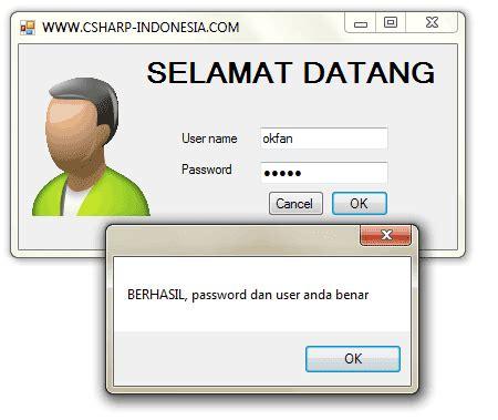 membuat form login di c membuat form login database mysql di c c sharp all in one
