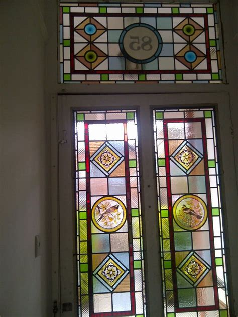 glass front door numbers edwardian stained glass windows with numbers