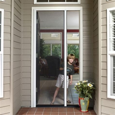 Tall Custom Retractable Single Door Screen Retractable Patio Single Door