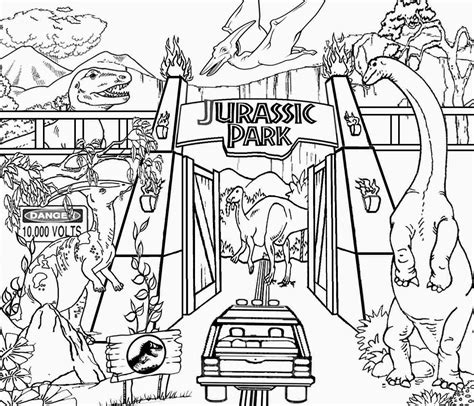 Jurassic Park Coloring Pages jurassic park 3 coloring coloring pages