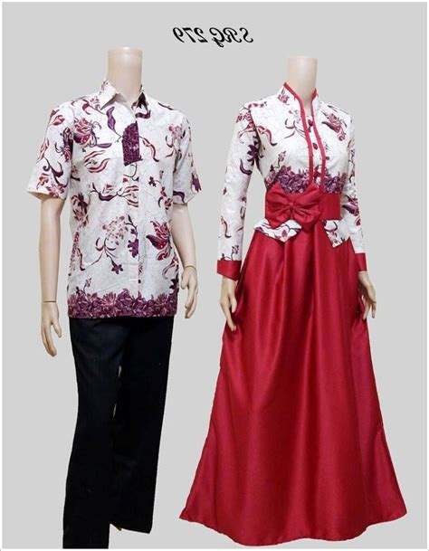 Model Baju Batik model gamis batik kombinasi design bild