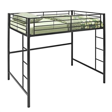 metal loft bed walker edison metal loft bunk bed in black