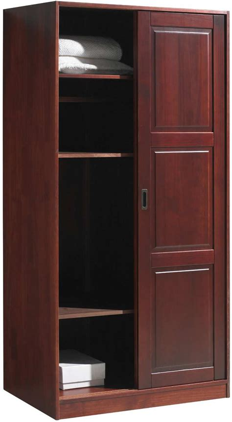 Door Armoire discount solid wood modern armoire wardrobe with sliding door and consumer reviews home best