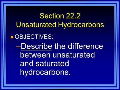 difference between chapter and section chapter 22 hydrocarbon compounds ppt video online download