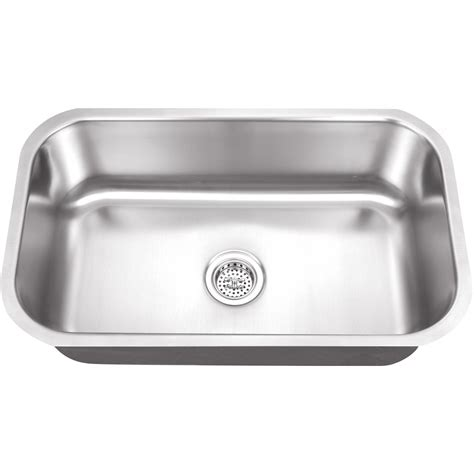 stainless steel single bowl undermount kitchen sink platinum sinks 30 x 18 16 single bowl stainless