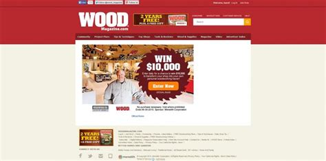 Woodworking Sweepstakes - wood magazine over the top shop sweepstakes woodmagazine com 10kshop