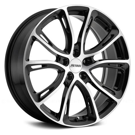 with wheels petrol 174 p5a wheels gloss black with machined cut rims