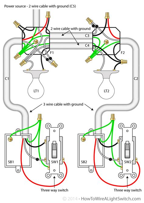 Wiring Diagram For 3 Way Switch And 2 Lights ? readingrat.net