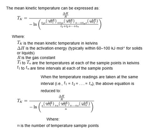 How Is Formula At Room Temperature by How To Calculate Kinetic Temperature Value Mkt In Excel