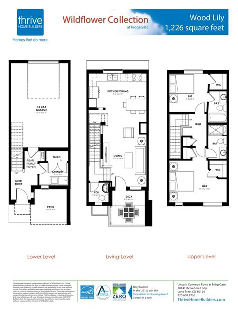 retail layouts thrive on the notion that wood lily home plan by thrive home builders in rows at