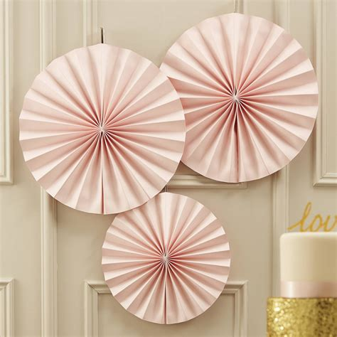 paper fan circle decorations pastel pink circle fan decorations by