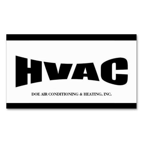 hvac technician b w business card template hvac