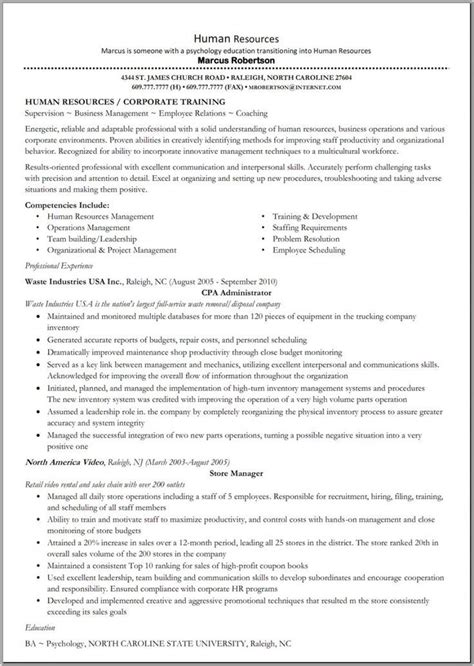 results oriented resume exles