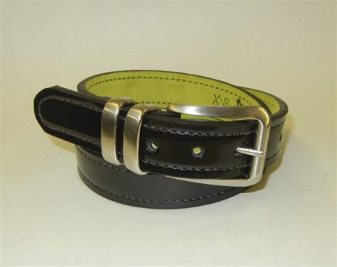 d day doll patent leather gun belt by flashbang holsters
